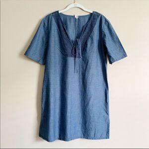 🌵2/$15 MERONA / denim chambray shift dress / M